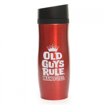 Old Guys Rule OLD GUYS RULE THERMAL DRINKING FLASK Indium Red