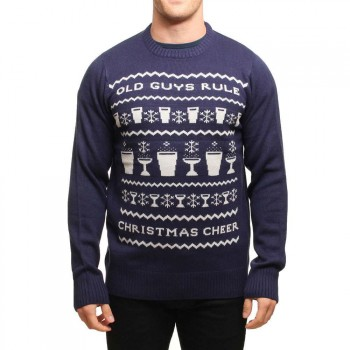 Old Guys Rule Old Guys Rule X-Mas Jumper Navy Blue
