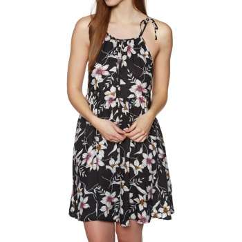 O'Neill O'NEILL BEACH HIGH NECK DRESS BLACK AOP W/ PINK