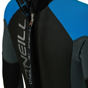 O'Neill O'NEILL BOYS EPIC 5/4MM 2018 BACK ZIP WETSUIT BLACK/ GRAPHITE/ BRIGHT BLUE