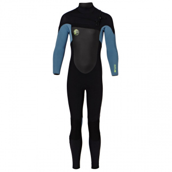 O'Neill O'NEILL BOYS O'RIGINAL 5/4MM 2018 CHEST ZIP WETSUIT BLACK/ DUSTY BLUE/ DAY GLO