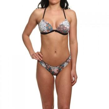 O'Neill ONeill Molded Tri Bikini Set Black Aop/Pink