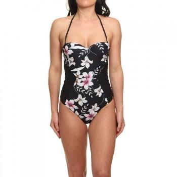 O'Neill ONeill New Cups Swimsuit Black AOP/Pink