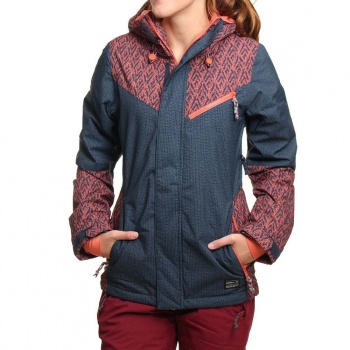 O'Neill ONeill Reunion Snow Jacket Blue AOP