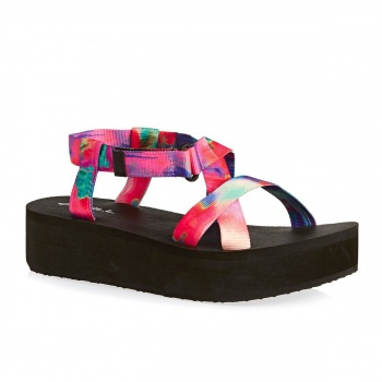 O'Neill O'NEILL VELCRO WEDGE SANDALS PINK/BLUE
