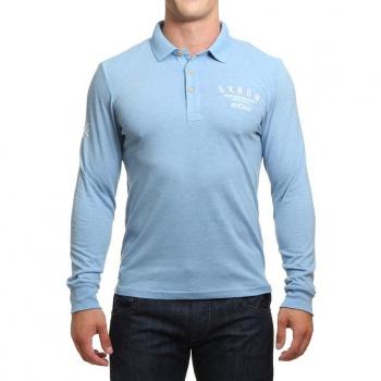 Oxbow Oxbow Netherlee Long Sleeve Polo Shirt Fog Blue
