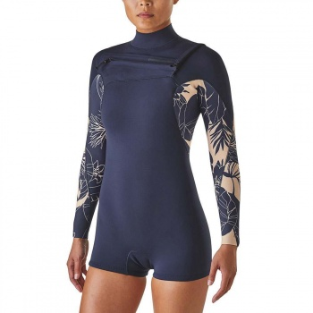 Patagonia Patagonia Ladies R1 Long Sleeve Shorty Wetsuit Valley Flora