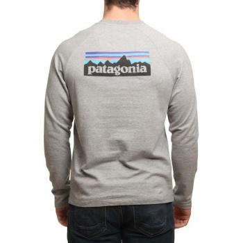 Patagonia Patagonia P6 Logo Lightweight Crew Grey/Black