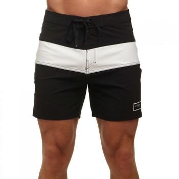 Pukas Pukas Black On White Boardshorts Black