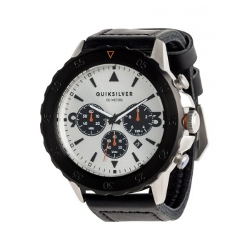 Quiksilver QUIKSILVER B-52 CHRONO LEATHER-ANALOGUE WATCH FOR MEN-GREY