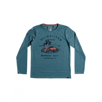 Quiksilver QUIKSILVER BANZAI BAR-LONG SLEEVE T-SHIRT FOR BOYS 8-16-BLUE