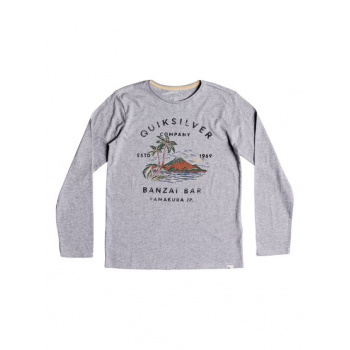 Quiksilver QUIKSILVER BANZAI BAR-LONG SLEEVE T-SHIRT FOR BOYS 8-16-GREY