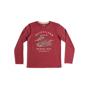 Quiksilver QUIKSILVER BANZAI BAR-LONG SLEEVE T-SHIRT FOR BOYS 8-16-RED