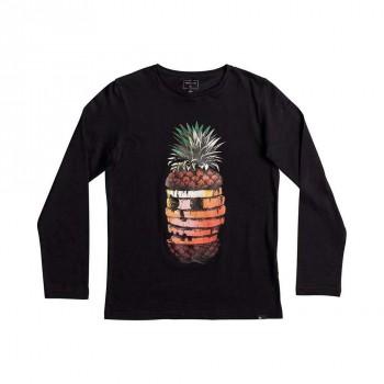 Quiksilver Quiksilver Boys Hot Pineapple L/Sleeve Top Black