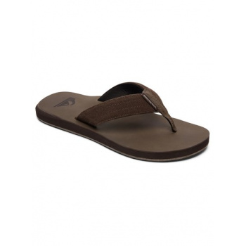 Quiksilver QUIKSILVER CARVER-LEATHER SANDALS FOR MEN-BROWN