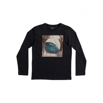 Quiksilver QUIKSILVER CLASSIC BERMUDA TRIAN-LONG SLEEVE T-SHIRT FOR BOYS 8-16-BLACK