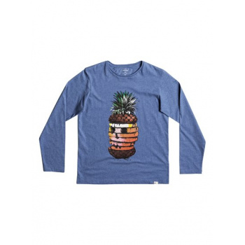 Quiksilver QUIKSILVER CLASSIC HOT PINEAPPLE-LONG SLEEVE T-SHIRT FOR BOYS 8-16-BLUE