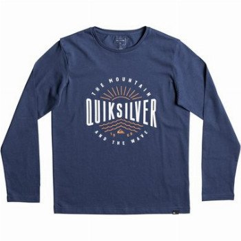 Quiksilver QUIKSILVER CLASSIC MAD WAVE-LONG SLEEVE T-SHIRT FOR BOYS 8-16-BLUE