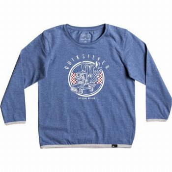 Quiksilver QUIKSILVER CLASSIC OFFICIAL DEAL-LONG SLEEVE T-SHIRT FOR BOYS 2-7-BLUE