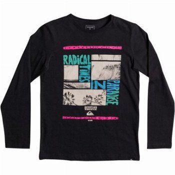 Quiksilver QUIKSILVER CLASSIC RADICAL TRIP-LONG SLEEVE T-SHIRT FOR BOYS 8-16-BLACK