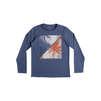 Quiksilver QUIKSILVER COLOURFUL NIGHT-LONG SLEEVE T-SHIRT FOR BOYS 8-16-BLUE