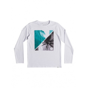 Quiksilver QUIKSILVER COLOURFUL NIGHT-LONG SLEEVE T-SHIRT FOR BOYS 8-16-WHITE