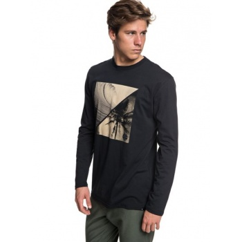 Quiksilver QUIKSILVER COLOURFUL NIGHT-LONG SLEEVE T-SHIRT FOR MEN-BLACK