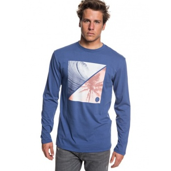 Quiksilver QUIKSILVER COLOURFUL NIGHT-LONG SLEEVE T-SHIRT FOR MEN-BLUE