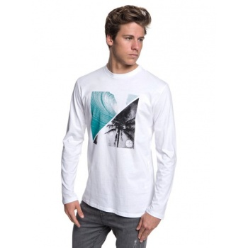 Quiksilver QUIKSILVER COLOURFUL NIGHT-LONG SLEEVE T-SHIRT FOR MEN-WHITE