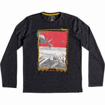 Quiksilver QUIKSILVER D- DAY-LONG SLEEVE T-SHIRT FOR BOYS 8-16-BLACK