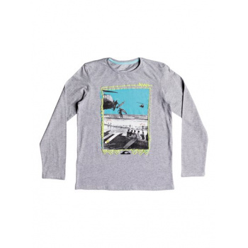 Quiksilver QUIKSILVER D- DAY-LONG SLEEVE T-SHIRT FOR BOYS 8-16-GREY