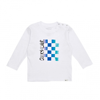Quiksilver QUIKSILVER DOUBLE CHECK LONG SLEEVED T-SHIRT WHITE