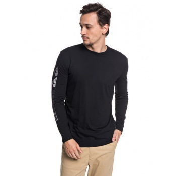 Quiksilver QUIKSILVER DOUBLE STRINGER-TECHNICAL UPF 30 LONG SLEEVE T-SHIRT FOR MEN-BLACK