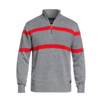 Quiksilver QUIKSILVER DUDE-TECHNICAL KNITTED HALF-ZIP JUMPER FOR MEN-BLACK