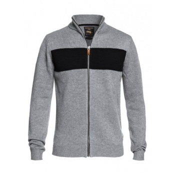 Quiksilver QUIKSILVER DUDE-TECHNICAL KNITTED ZIP-UP JUMPER FOR MEN-BLACK