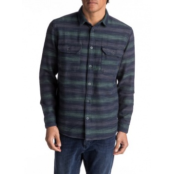Quiksilver QUIKSILVER DUSKY TOWN FLANNEL-LONG SLEEVE OVER SHIRT FOR MEN-GREEN