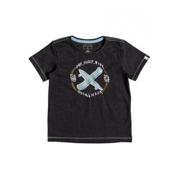 Quiksilver QUIKSILVER EAT AND RIDE-T-SHIRT FOR BOYS 2-7-BLACK