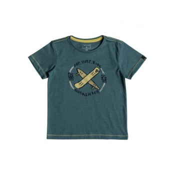 Quiksilver QUIKSILVER EAT AND RIDE-T-SHIRT FOR BOYS 2-7-BLUE