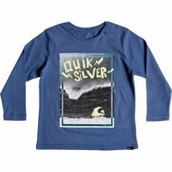 Quiksilver QUIKSILVER ELECTRIC-LONG SLEEVE T-SHIRT FOR BOYS 2-7-BLUE