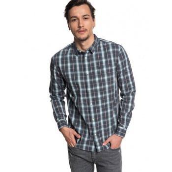 Quiksilver QUIKSILVER EVERYDAY CHECK-LONG SLEEVE SHIRT FOR MEN-BLUE