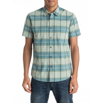 Quiksilver QUIKSILVER EVERYDAY CHECK-SHORT SLEEVE SHIRT FOR MEN-GREEN