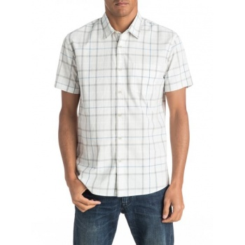 Quiksilver QUIKSILVER EVERYDAY CHECK-SHORT SLEEVE SHIRT FOR MEN-WHITE