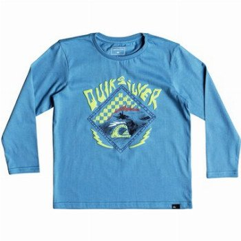 Quiksilver QUIKSILVER HB CHECK-LONG SLEEVE T-SHIRT FOR BOYS 2-7-BLUE