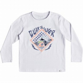 Quiksilver QUIKSILVER HB CHECK-LONG SLEEVE T-SHIRT FOR BOYS 2-7-WHITE