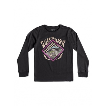 Quiksilver QUIKSILVER HB CHECK-LONG SLEEVE T-SHIRT FOR BOYS 8-16-BLACK