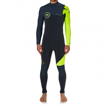 Quiksilver QUIKSILVER HIGHLINE SERIES 3/2MM 2018 ZIPPERLESS WETSUIT HEATHER SLATE/ SLATE/ SAFETY YELLOW