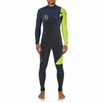 Quiksilver QUIKSILVER HIGHLINE SERIES 4/3MM 2018 ZIPPERLESS WETSUIT HEATHER SLATE/ SLATE/ SAFETY YELLOW