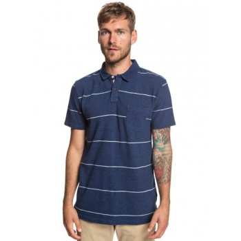 Quiksilver QUIKSILVER IRON IN THE SOUL-SHORT SLEEVE POLO SHIRT FOR MEN-BLUE