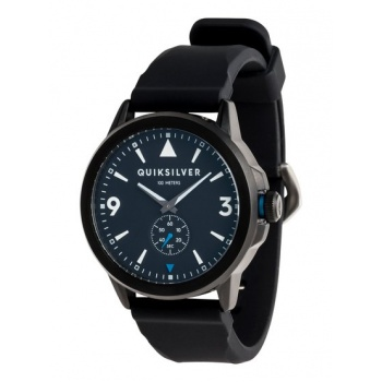 Quiksilver QUIKSILVER KOMBAT SILICONE-ANALOGUE WATCH FOR MEN-BLACK