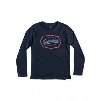 Quiksilver QUIKSILVER LIVING ON THE EDGE-LONG SLEEVE T-SHIRT FOR BOYS 8-16-BLUE